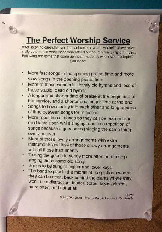 The Perfect Worship Service
