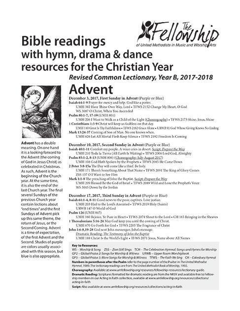 CURRENT Lectionary Guide 2017-2018 YearB