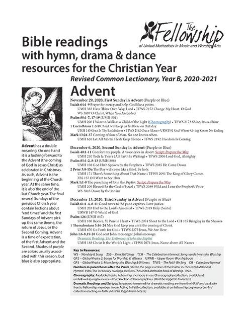 CURRENT Lectionary Guide 2020-2021 YearB